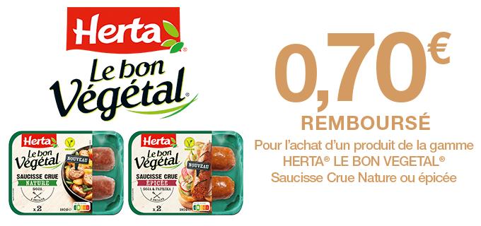 Saucisses Crues HERTA® Le Bon Végétal®