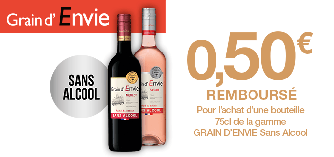 GRAIN D'ENVIE SANS ALCOOL - 100% PLAISIR