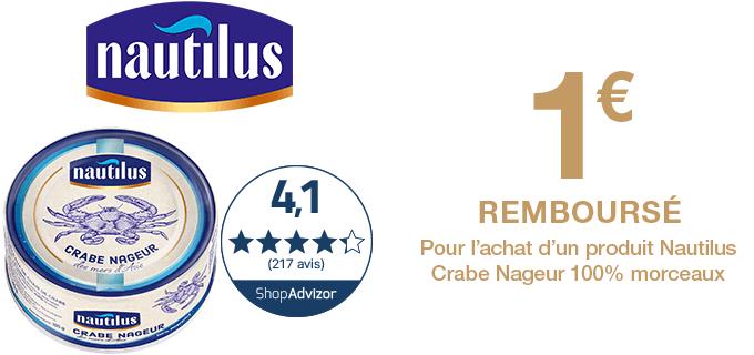 Nautilus Crabe Morceaux