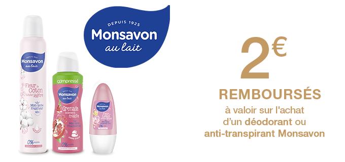 Déodorants Monsavon